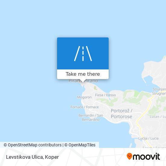 Levstikova Ulica map