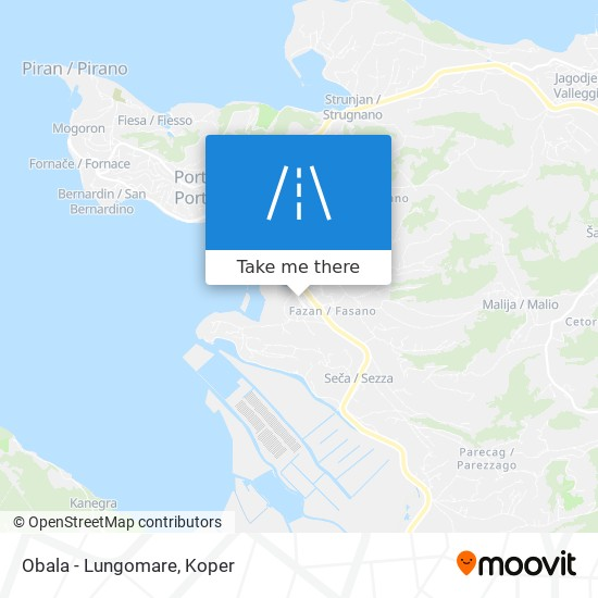 Obala - Lungomare map