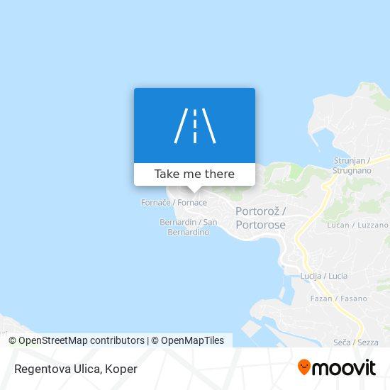 Regentova Ulica map