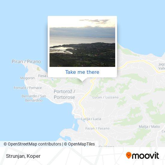 Strunjan map