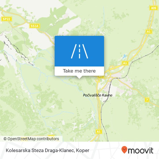 Kolesarska Steza Draga-Klanec map