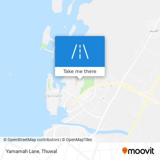 Yamamah Lane map