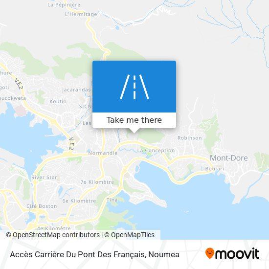 Accès Carrière Du Pont Des Français map