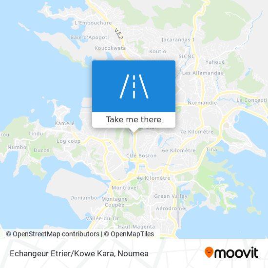 Echangeur Etrier/Kowe Kara map
