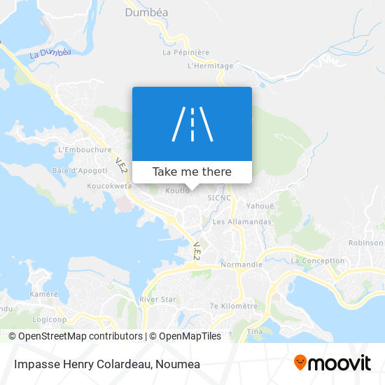 Impasse Henry Colardeau map