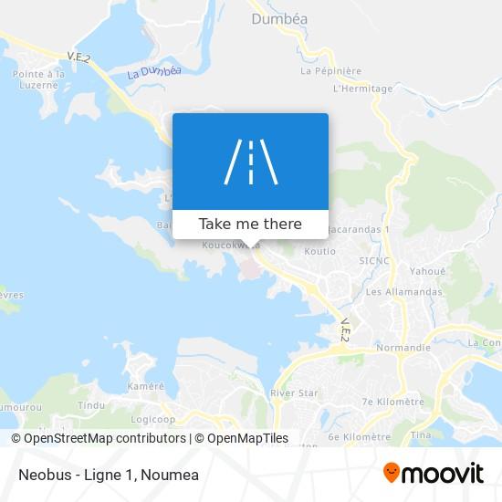 Neobus - Ligne 1 map