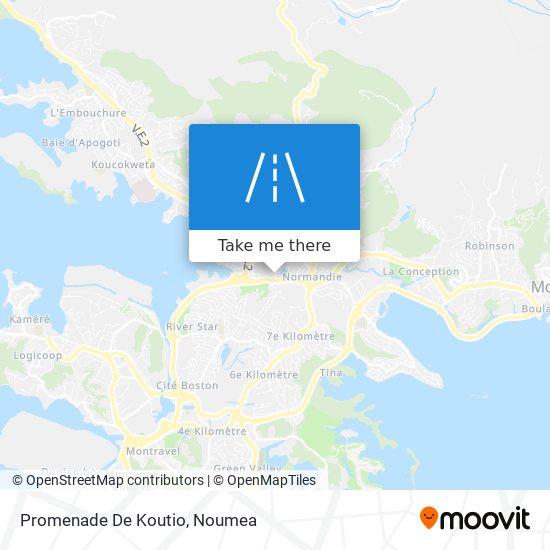 Promenade De Koutio map