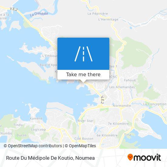 Route Du Médipole De Koutio map