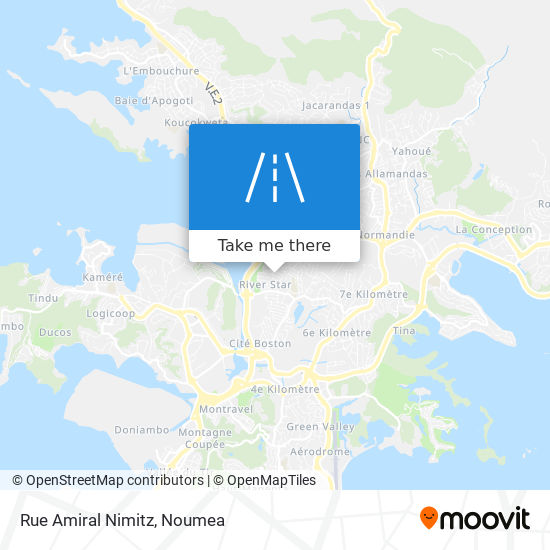 Rue Amiral Nimitz map
