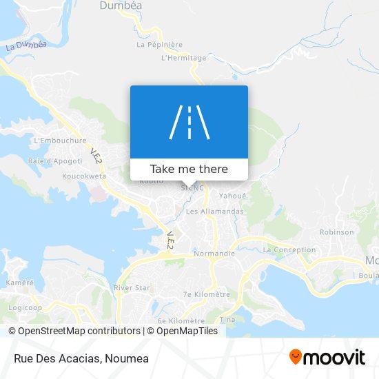 Rue Des Acacias map