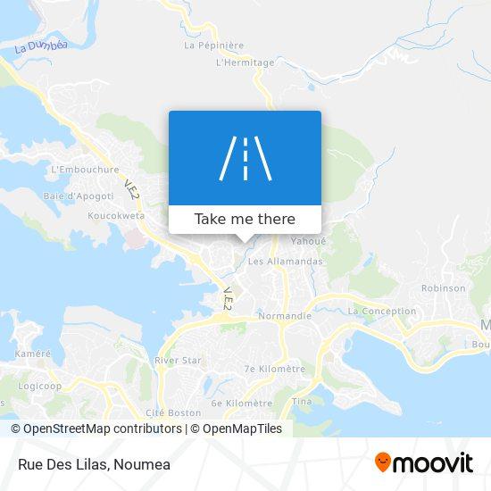 Rue Des Lilas map