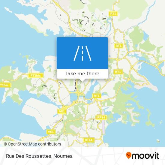 Rue Des Roussettes map