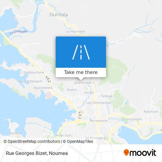 Rue Georges Bizet map