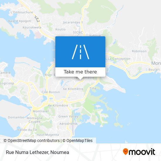Rue Numa Lethezer map