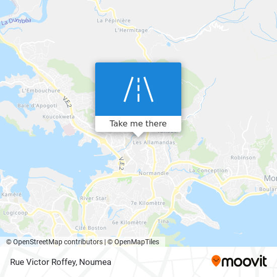 Rue Victor Roffey map