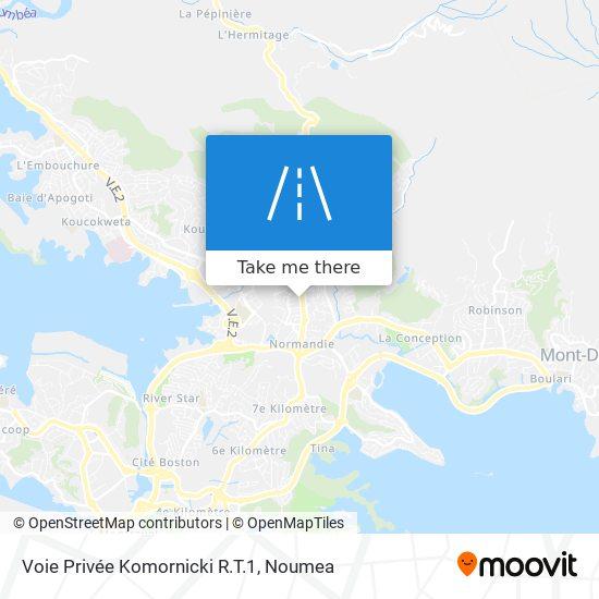 Voie Privée Komornicki R.T.1 map