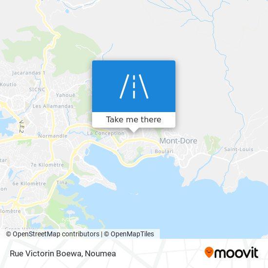 Rue Victorin Boewa map