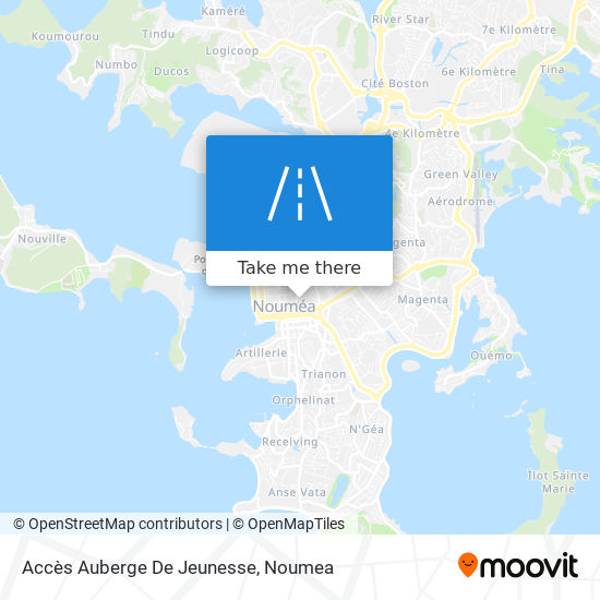 Accès Auberge De Jeunesse map