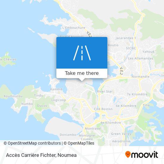 Accès Carrière Fichter map