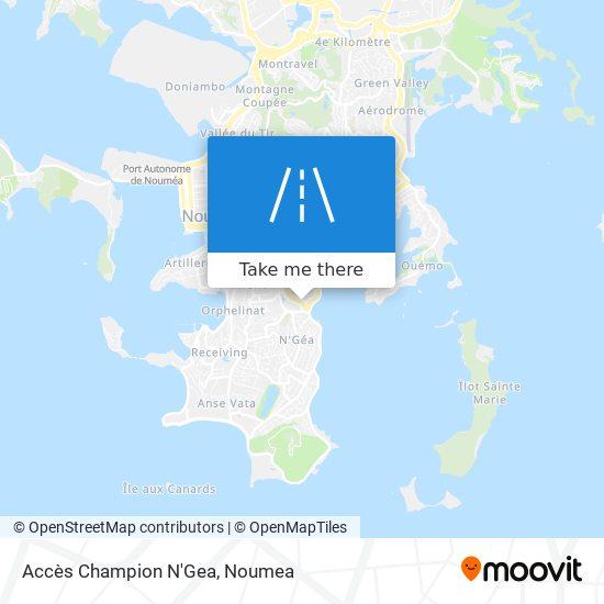 Accès Champion N'Gea map