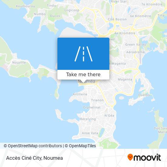 Accès Ciné City map