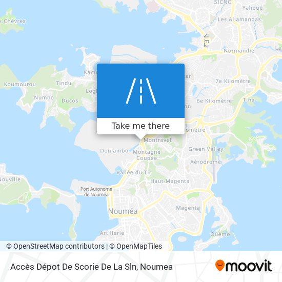Accès Dépot De Scorie De La Sln map