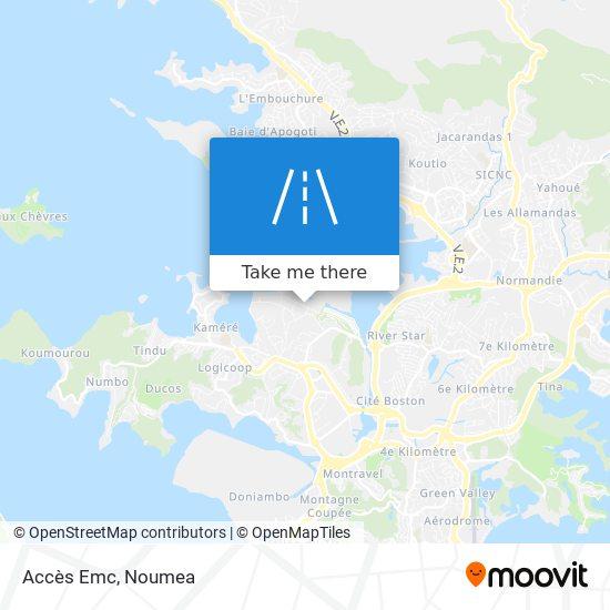 Accès Emc map