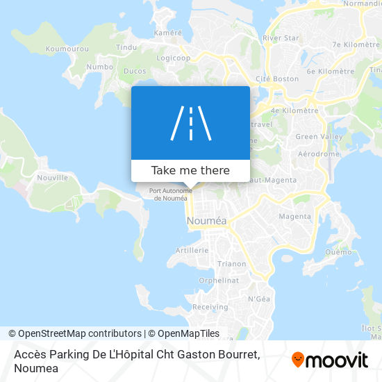 Accès Parking De L'Hôpital Cht Gaston Bourret map