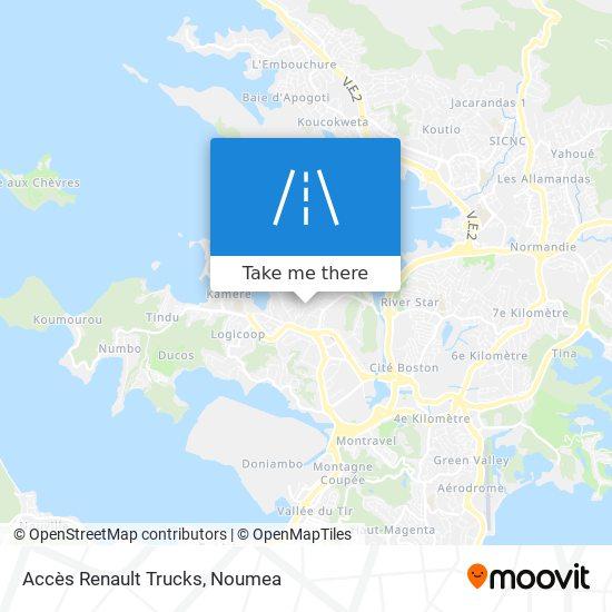 Accès Renault Trucks map