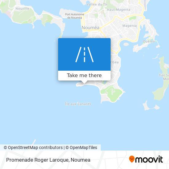 Promenade Roger Laroque map