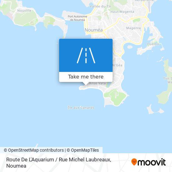 Route De L'Aquarium / Rue Michel Laubreaux map