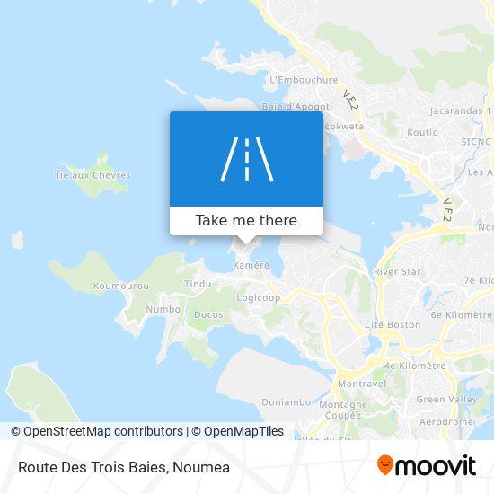 Route Des Trois Baies map