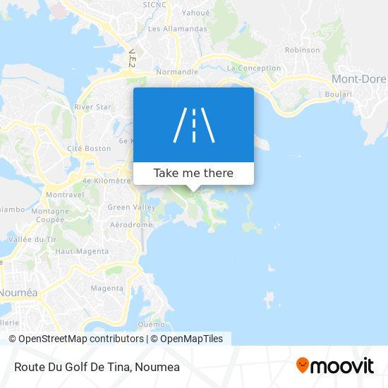 Route Du Golf De Tina map