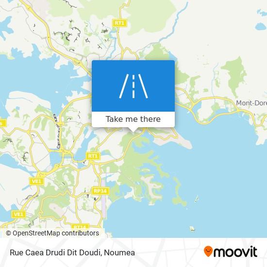 Rue Caea Drudi Dit Doudi map
