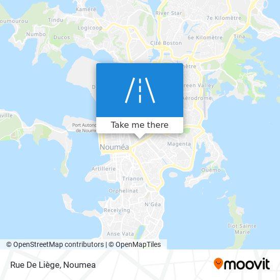 Rue De Liège map