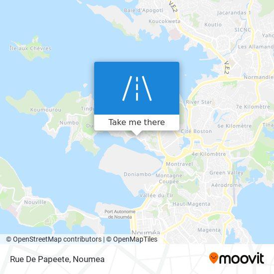 Rue De Papeete map