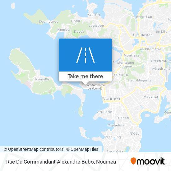 Rue Du Commandant Alexandre Babo map