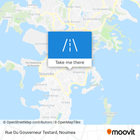 Rue Du Gouverneur Testard map
