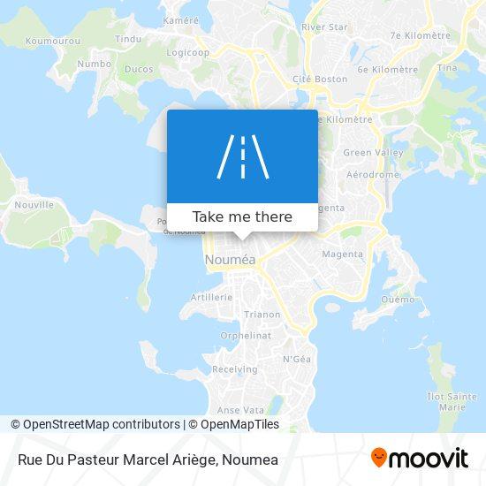 Rue Du Pasteur Marcel Ariège map