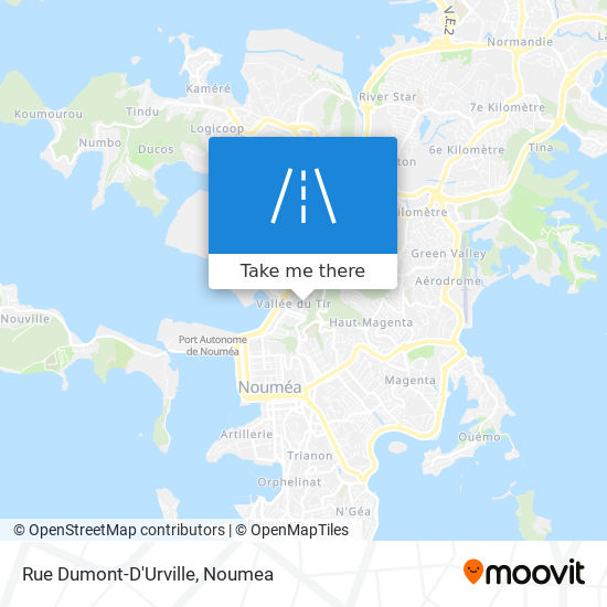 Rue Dumont-D'Urville map