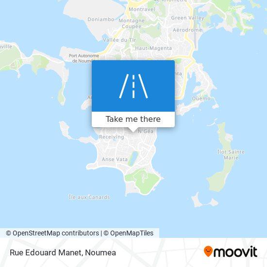 Rue Edouard Manet map