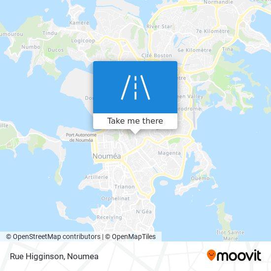 Rue Higginson map