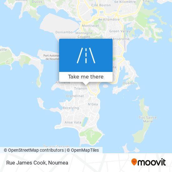 Rue James Cook map