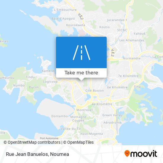 Rue Jean Banuelos map