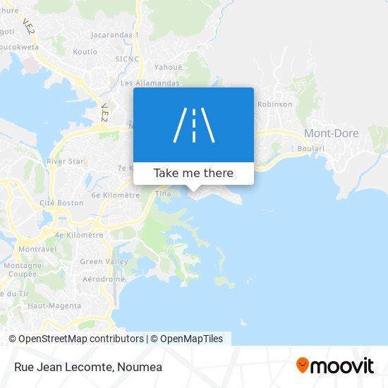 Rue Jean Lecomte map