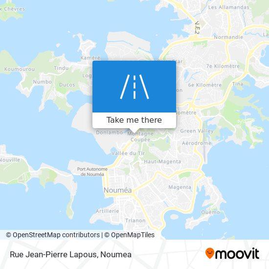 Rue Jean-Pierre Lapous map