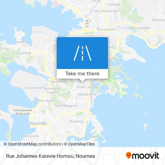 Rue Johannes Karevie Homou map