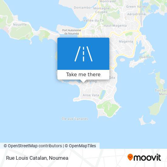 Rue Louis Catalan map