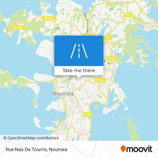 Rue Nas De Tourris map
