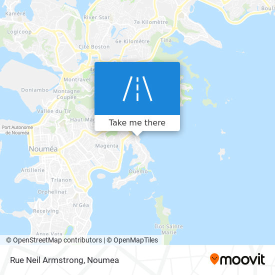 Rue Neil Armstrong map